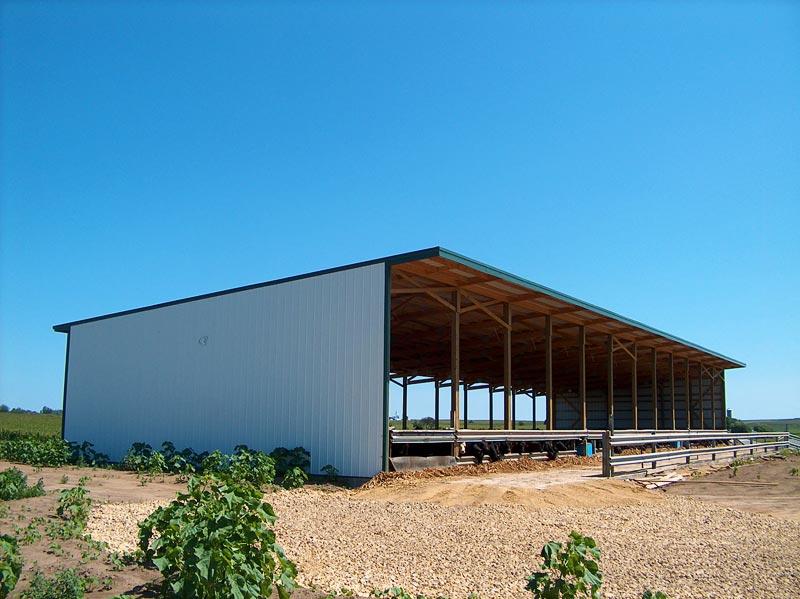 Open front cattle pole buildings joy studio design for Open pole shed