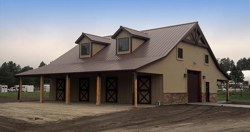 new 4 stall colorado horse barn in douglas county