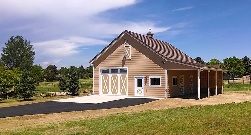 High quality two stall horse barns in colorado for 2 stall horse barn