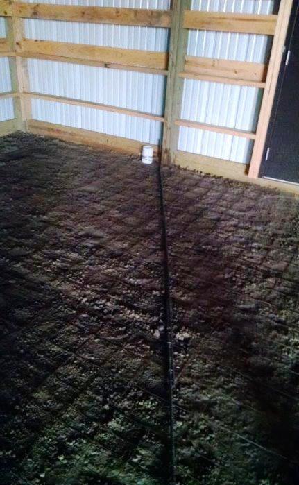 Cement Pole Barn Post : Barn raising colorado pole barns step by