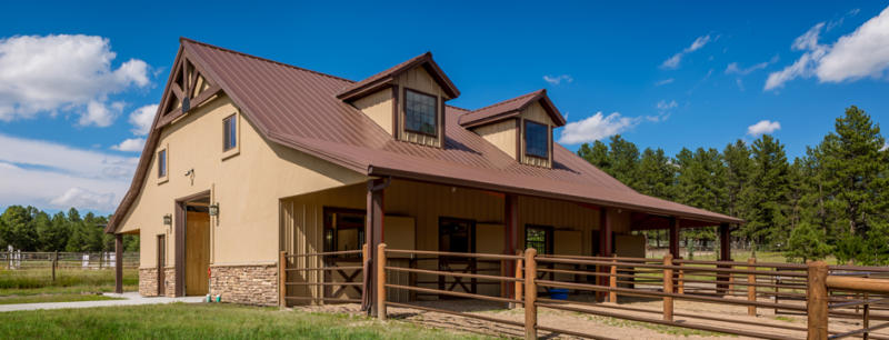 Fancy custom farm buildings colorado for Custom built barn homes