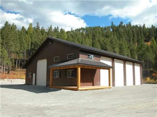 Rv garages residential buildings central colorado for Garage barns with living quarters
