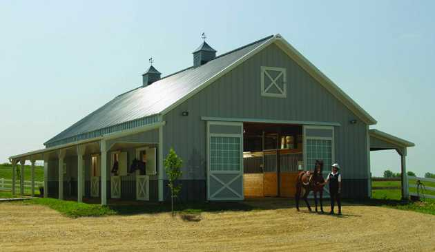 What are the costs to build custom pole barns in colorado for House horse barn plans