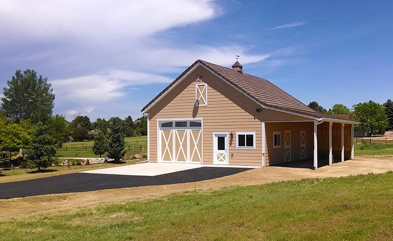 High quality two stall horse barns in colorado for Cheap metal building homes