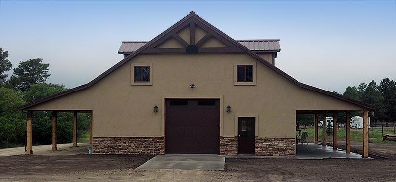 New 4 Stall Colorado Horse Barn In Douglas County