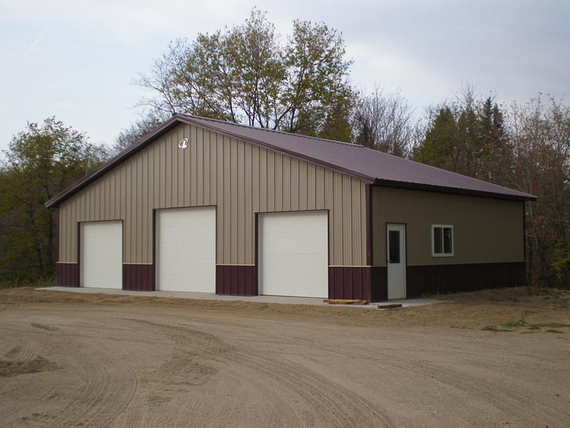 Colorado pole barns for garages sheds hobby buildings for 3 bay garage cost