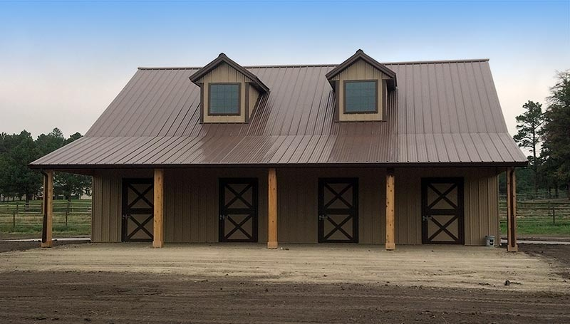 New 4 stall colorado horse barn in douglas county for 4 stall horse barn plans