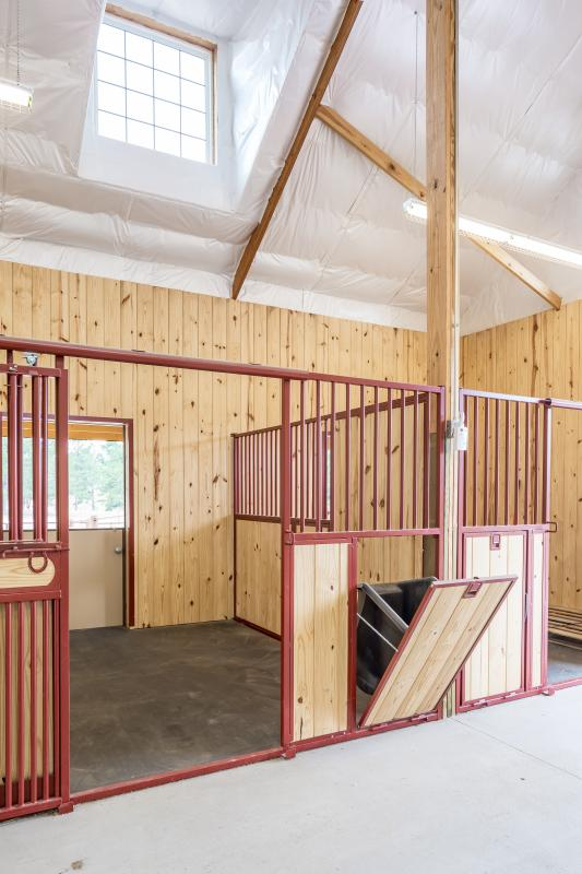 Organized Equine Buildings Tack Stalls Feed Bins Wash Bays