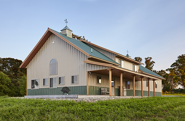 can you start a homestead with a modern pole barn home